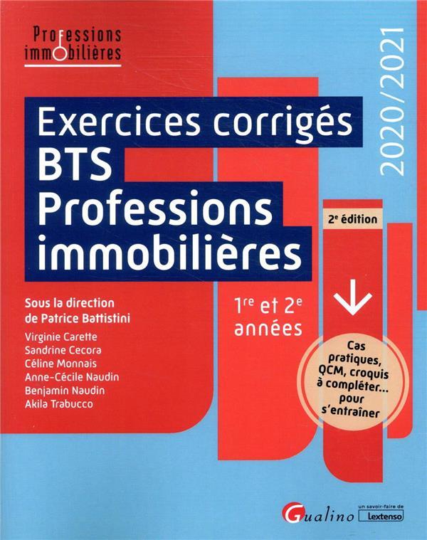 Exercices corrigés BTS Professions immobilières (édition 2020/2021)