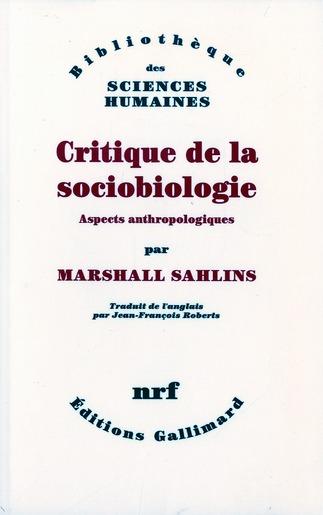 Critique de la sociobiologie