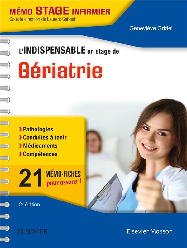 L'INDISPENSABLE EN STAGE DE GERIATRIE
