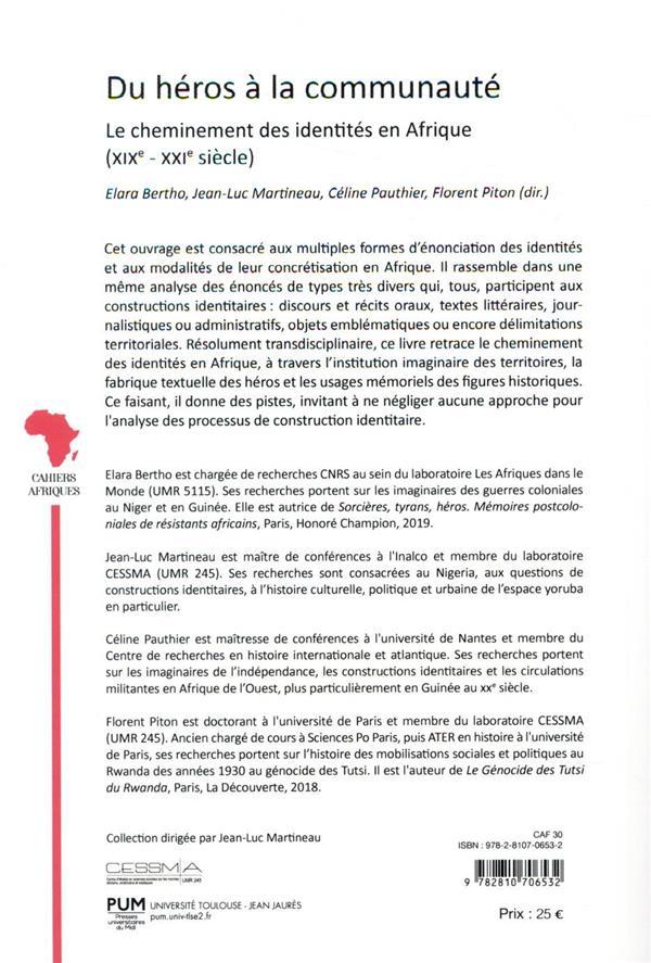 Du héros à la communauté ; le cheminement des identités en Afrique (XIXe-XXIe siècle)