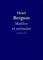Vente EBooks : Matière et mémoire  - Henri Bergson