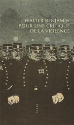 Couverture de Pour critique de la violence