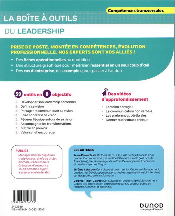 La boîte à outils ; du leadership (2e édition)