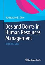 Dos and Don´ts in Human Resources Management  - Matthias Zeuch