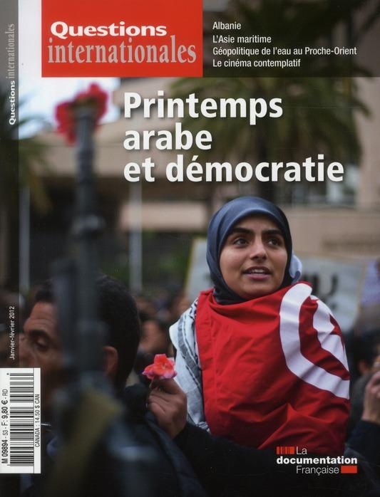 Revue questions internationales t.53; printemps arabe et democratie