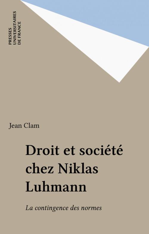 Droit et société chez Niklas Luhmann