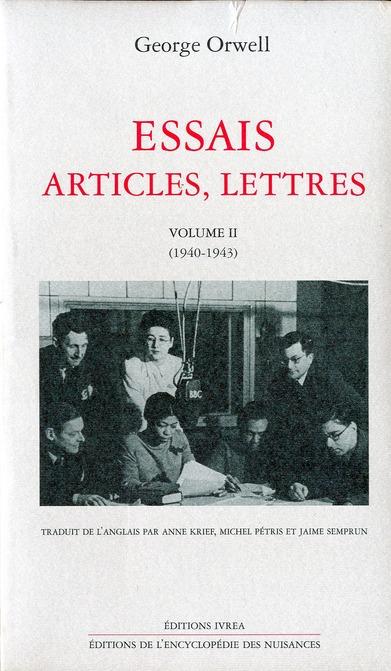 ESSAIS, ARTICLES, LETTRES T. 2 - (1940-1943)