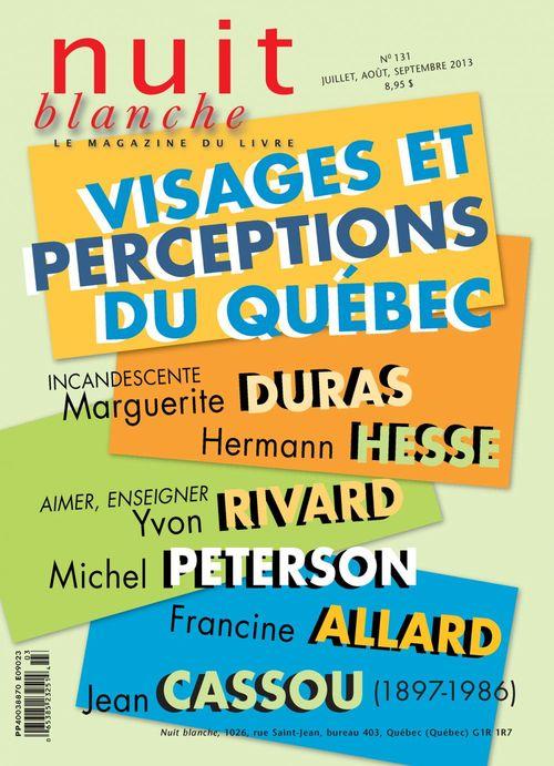 Nuit blanche, le magazine du livre. No. 131, Été 2013