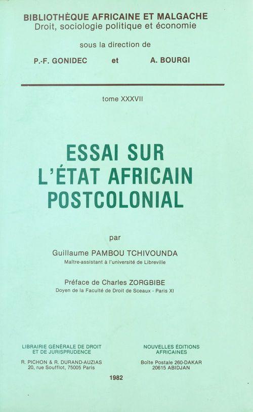 Essai sur l'etat africain
