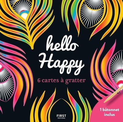 Cartes à gratter mini ; hello happy