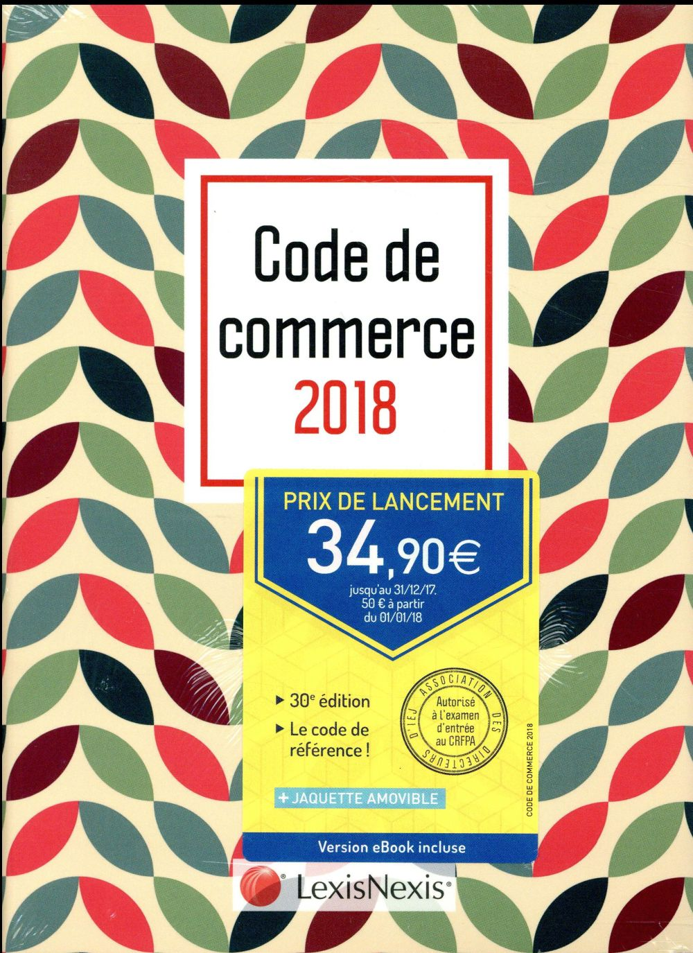 Code de commerce 2018 ; motif vintage