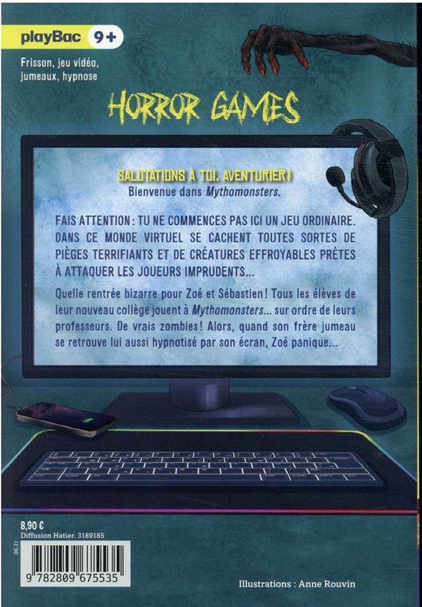 Horror games t.2 ; attention, collège zombie !
