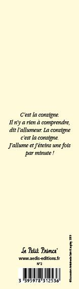 Marque-page Le Petit Prince T.2