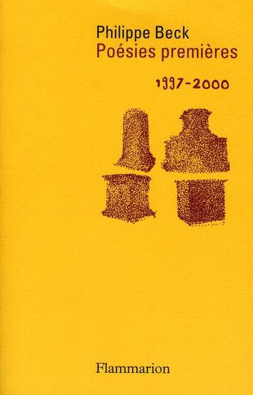 Poésies premières (1997-2000)