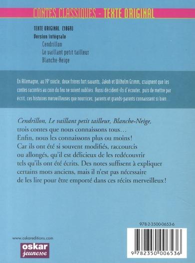 Contes classiques, texte original ; Grimm