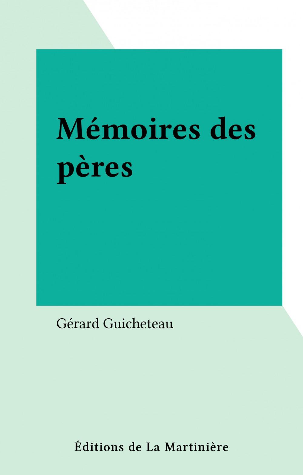 Memoires des peres