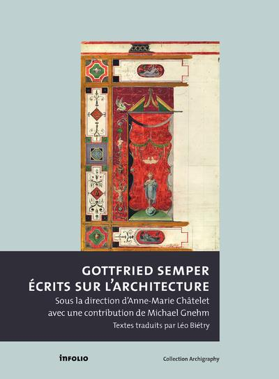 Gottfried Semper ; écrits sur l'architecture