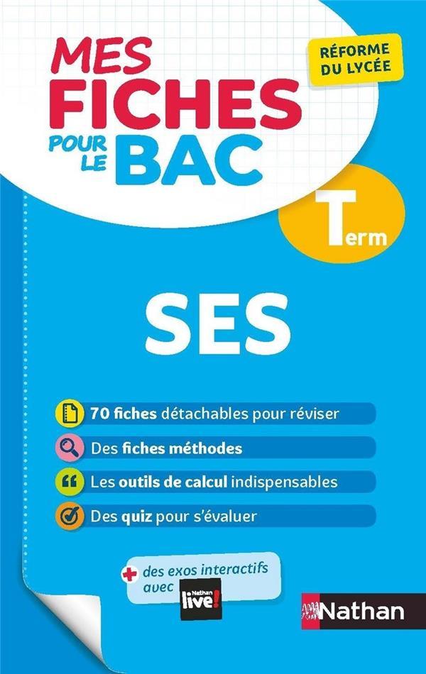 MES FICHES ABC DU BAC t.13 ; sciences économiques et sociales ; terminale (édition 2020)