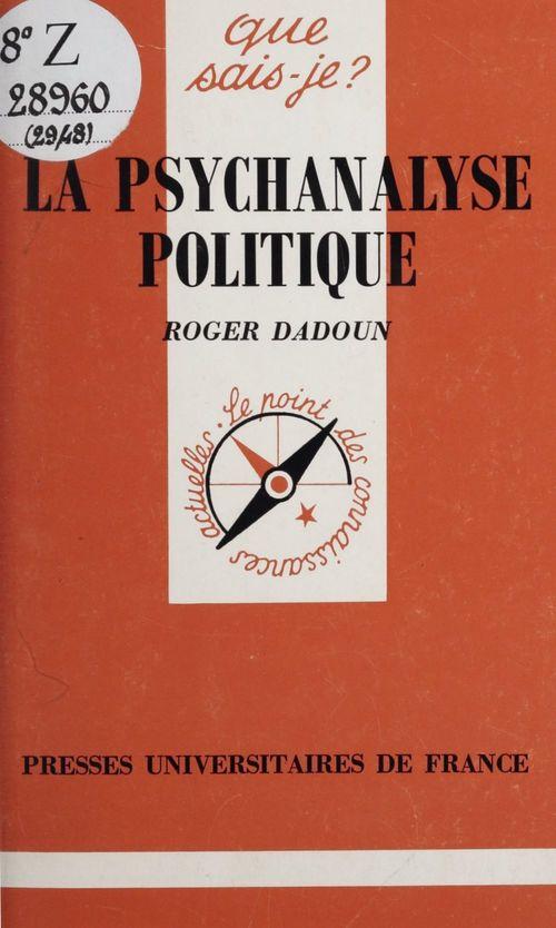 La psychanalyse politique