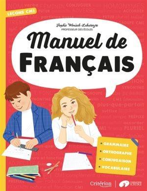Manuel de français ; CM1 ; leçons