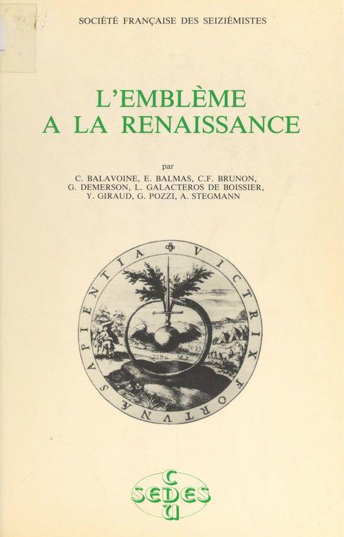 L'emblème à la Renaissance