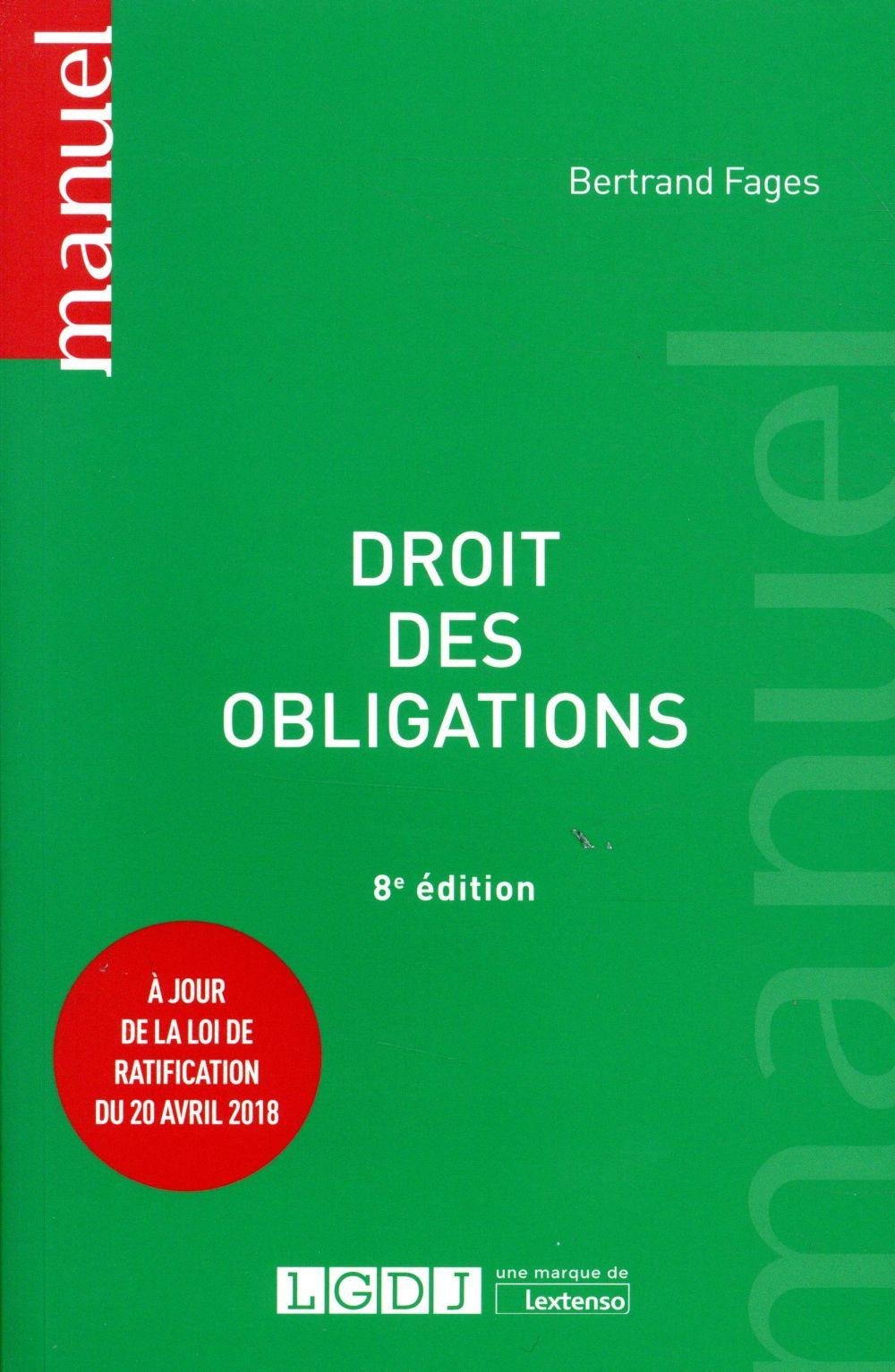 Droit des obligations (8e édition)