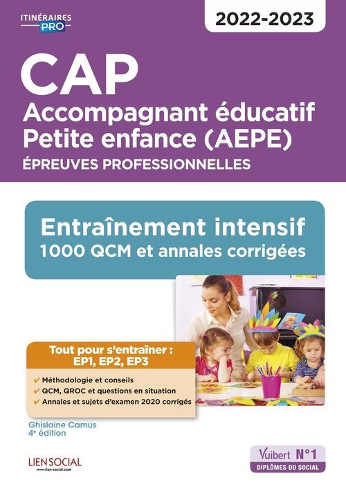 CAP accompagnant éducatif petite enfance : épreuves professionnelles ; EP1, EP2 et EP3 ; entraînement intensif