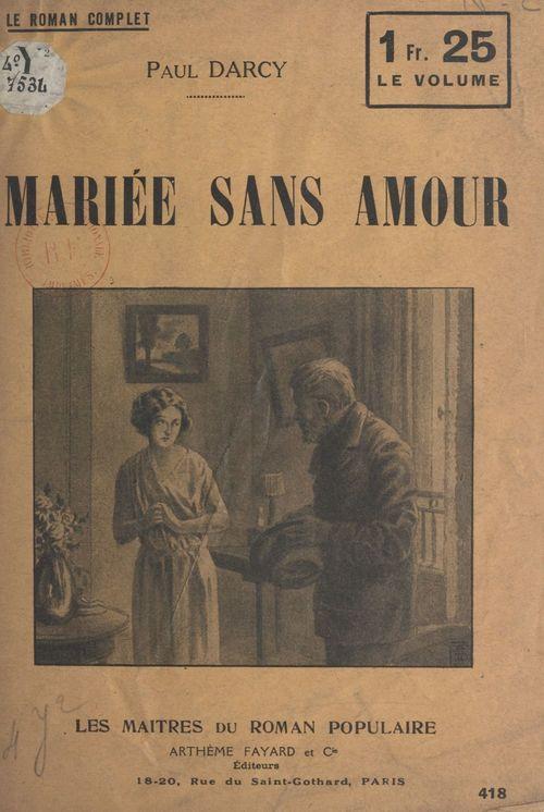 Mariée sans amour