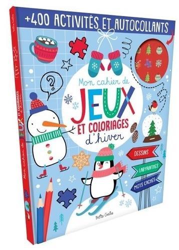 Mon livre de jeux et coloriages d'hiver
