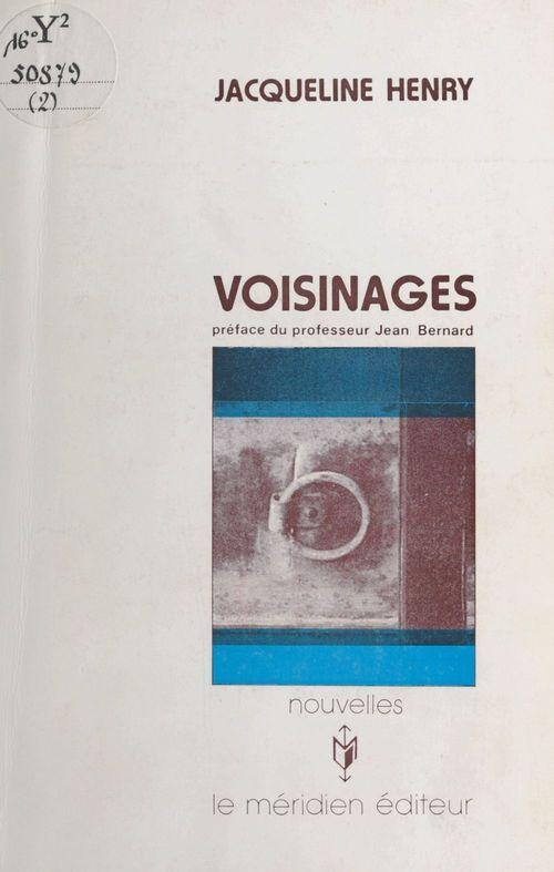 Voisinages  - Jacqueline Henry