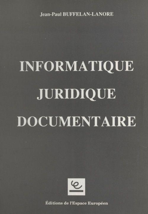 Informatique juridique documentaire