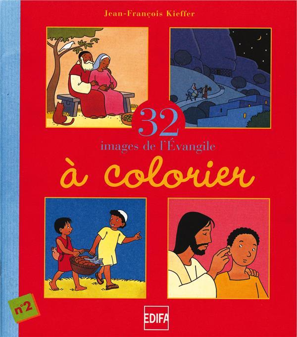 32 images de l'évangile à colorier ; cahier n°2