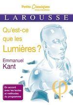 Vente EBooks : Qu'est-ce que les Lumières ?  - Emmanuel KANT