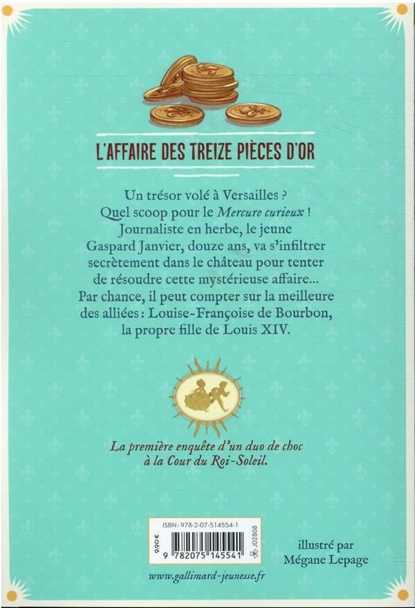 scoop à Versailles t.1 ; l'affaire des treize pièces d'or