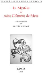 Vente Livre Numérique : Le Mystère de saint Clément de Metz  - Frédéric Duval