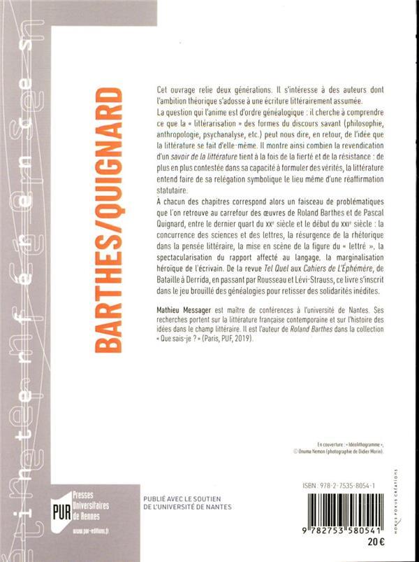 Barthes/Quignard