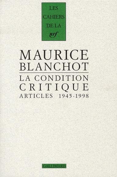 Les cahiers de la NRF ; critiques littéraires (1945-1998)