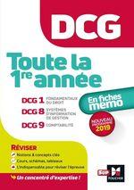 Vente Livre Numérique : DCG : Toute la 1ère année du DCG 1, 8, 9 en fiches - Révision  - Collectif - Alain Burlaud - Jean-François Soutenain - David Balny - Françoise Rouaix - Marie Teste - Jean-Louis Echeviller