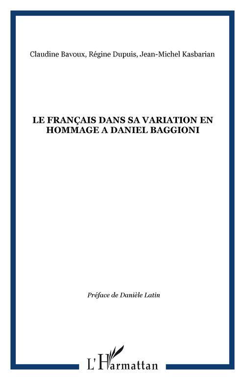 Le français dans sa variation