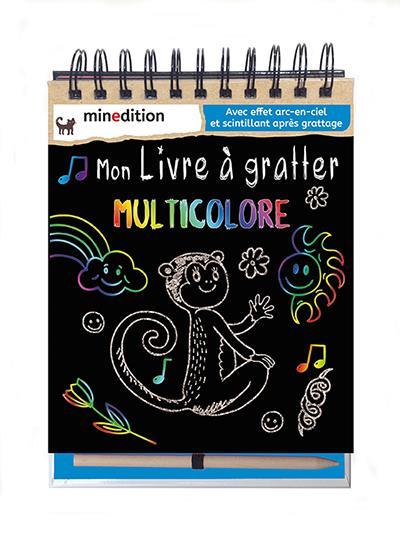 mon livre à gratter multicolore