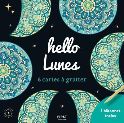 Cartes à gratter mini ; hello lunes