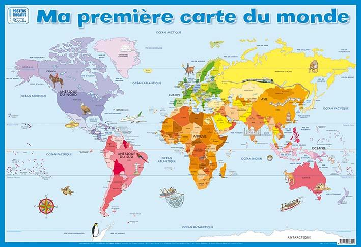 Ma première carte du monde ; posters recto verso
