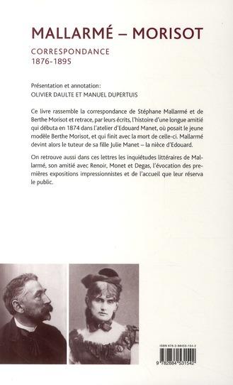 Mallarmé - Morisot ; correspondance 1876-1895