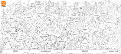 POSTERS A COLORIER  -  LES POSTERS A COLORIER  -  LES DINOSAURES COLLECTIF