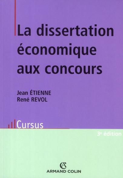 La Dissertation Economique Aux Concours