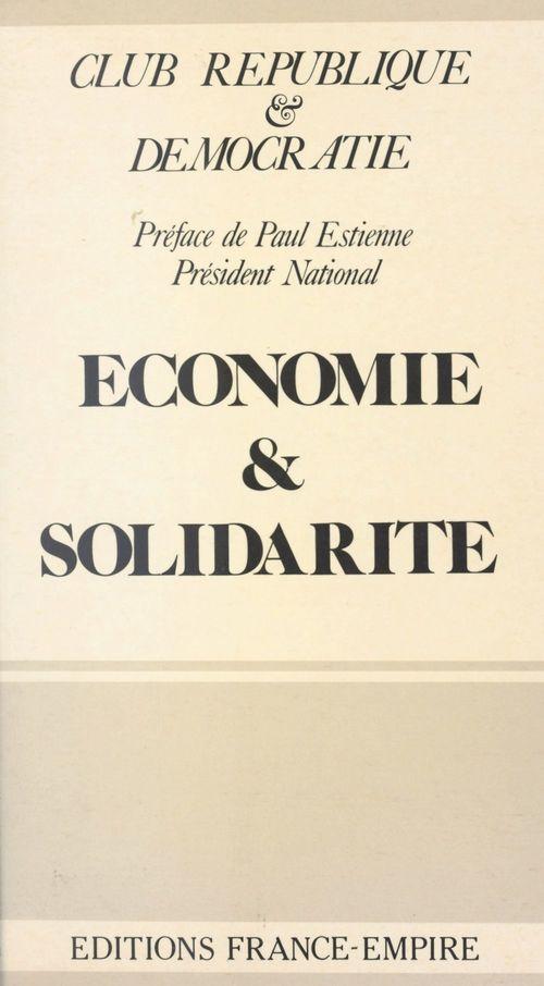 Économie et solidarité