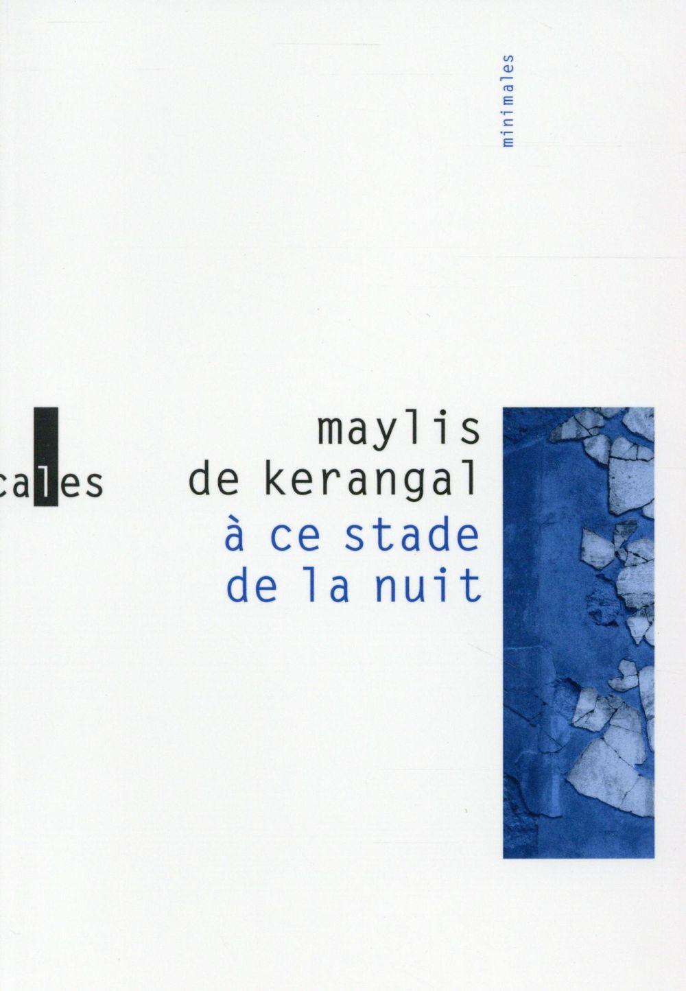 A CE STADE DE LA NUIT Kerangal Maylis de