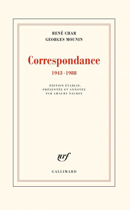 Vente Livre Numérique : Correspondance (1943-1988)  - Georges Mounin  - René CHAR