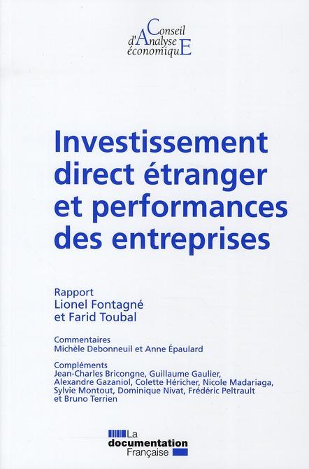 Investissement Direct Etranger Et Performances Des Entreprises