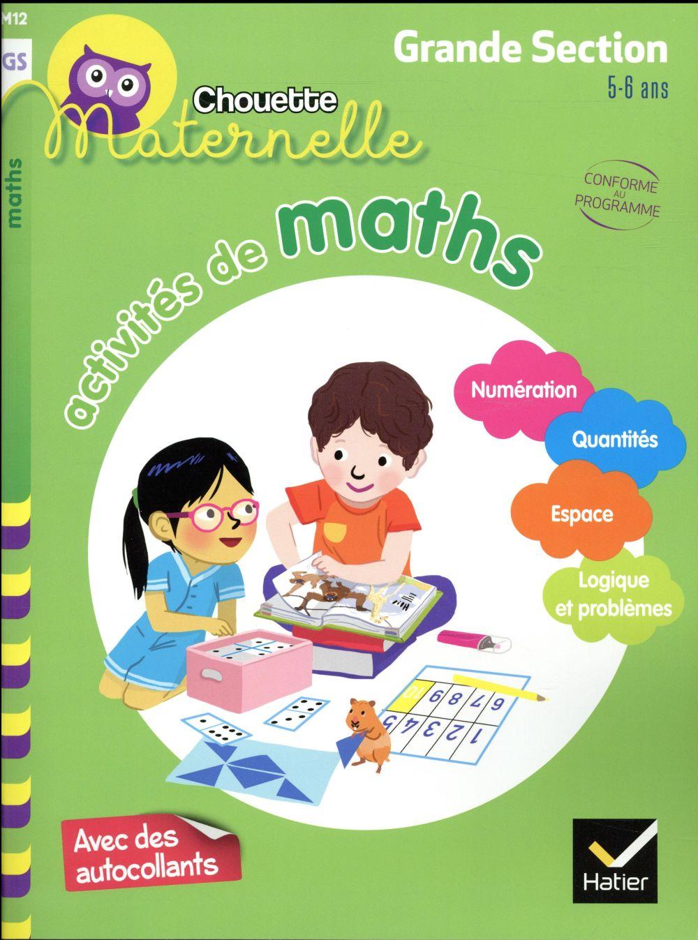 Chouette maternelle ; activités de maths ; grande section